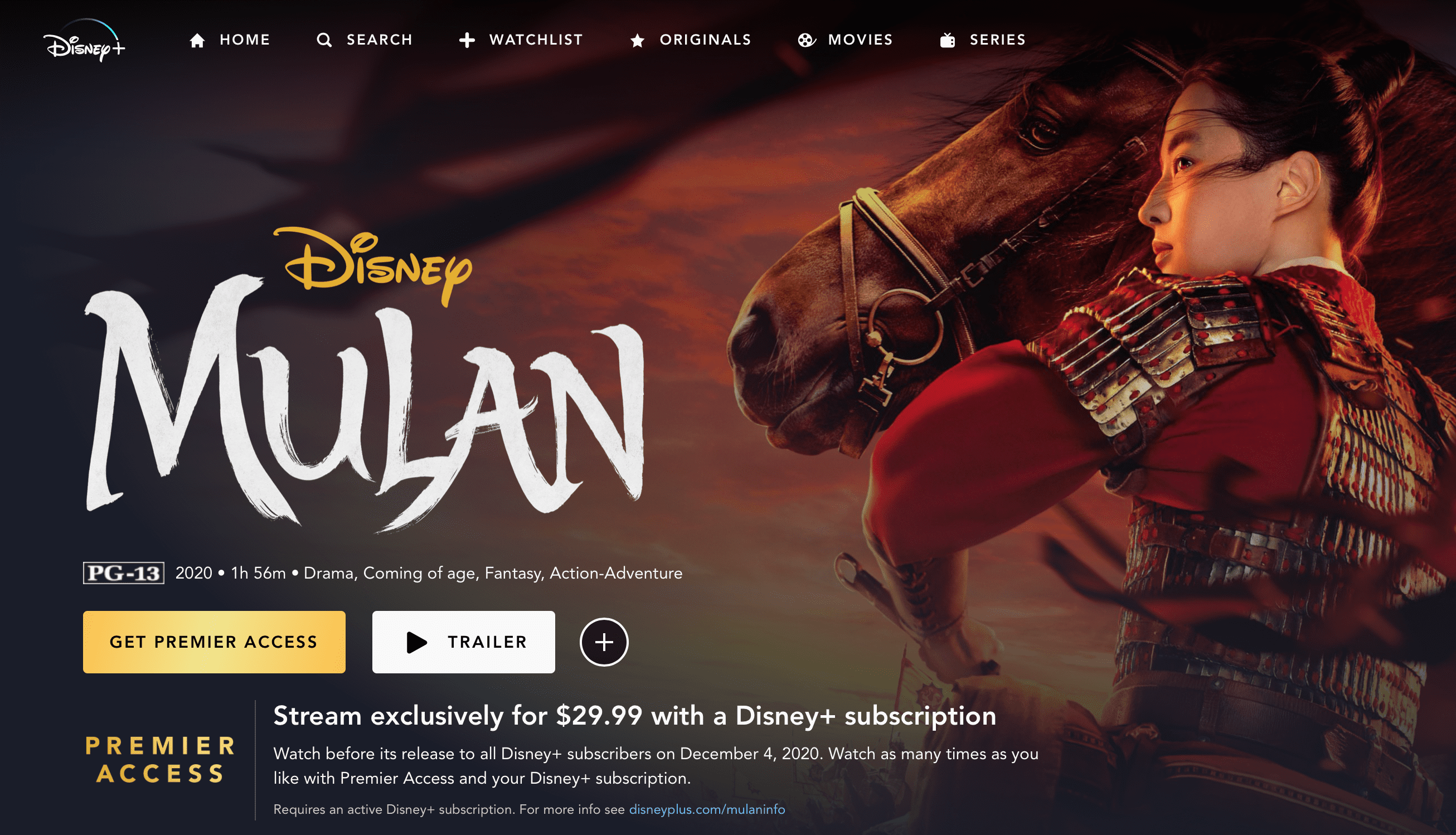 What time does Mulan come out on Disney Plus?