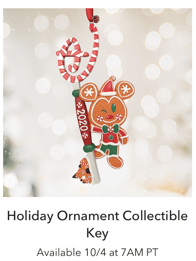 Holiday Ornament Collectible Key [Source: Shop Disney]