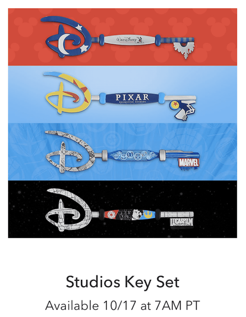 Studio Key Set [Source: Shop Disney]