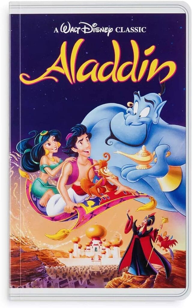 Aladdin Disney VHS Notebook Journals