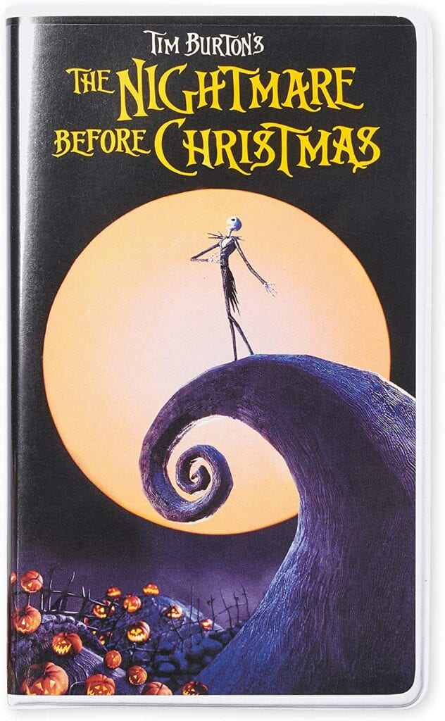 The Nightmare Before Christmas Disney VHS Notebook Journals