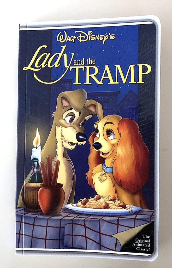 Walt Disney's Lady and the Tramp VHS Notebook Journals
