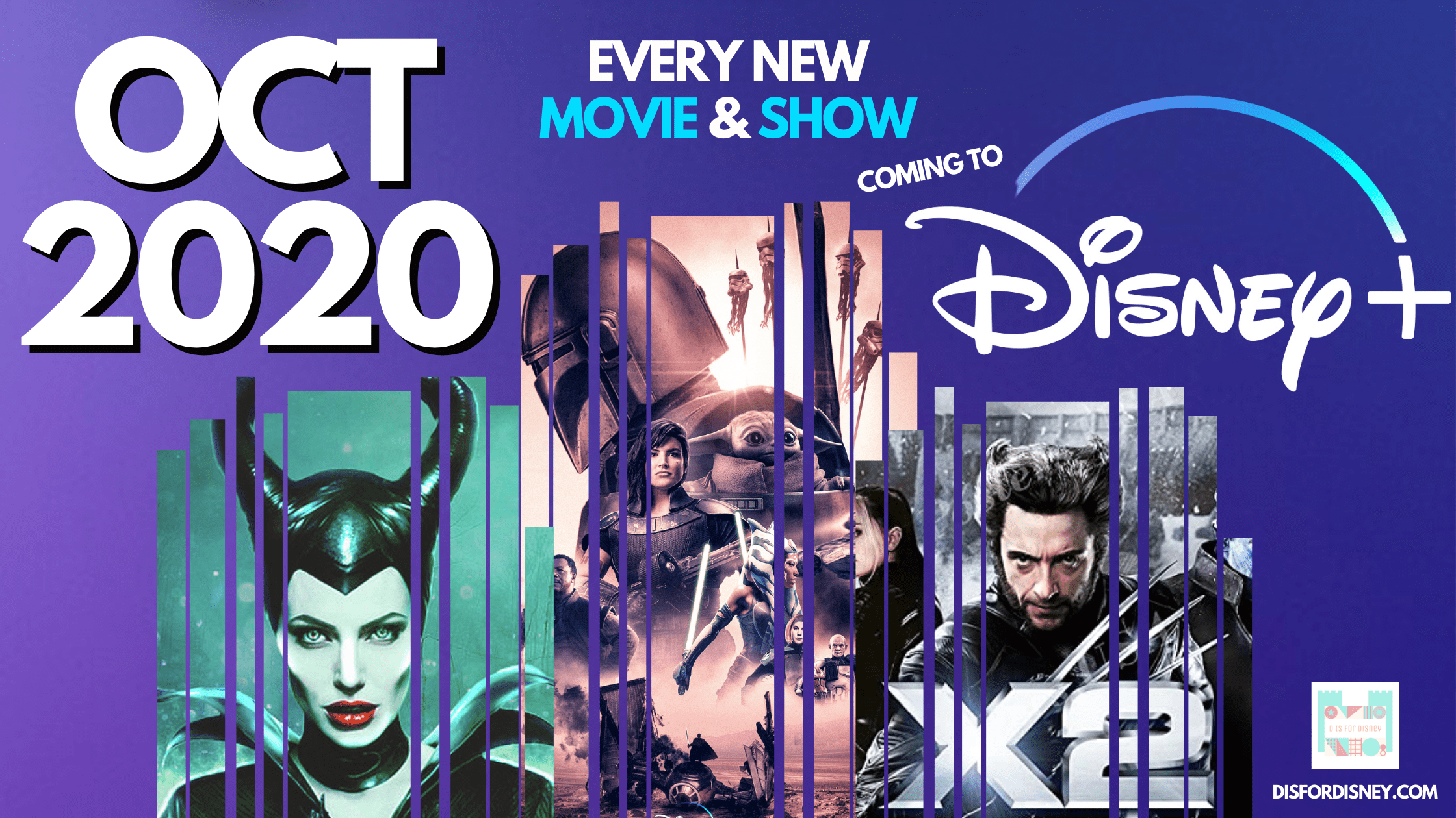 Every New Movie & Show Coming to Disney Plus | October 2020
