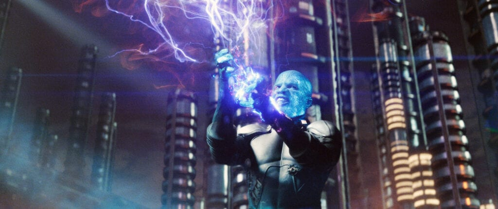 Jamie Foxx Electro Returns in Spider-Man 3 [Source: Columbia Pictures / Everett Collection]