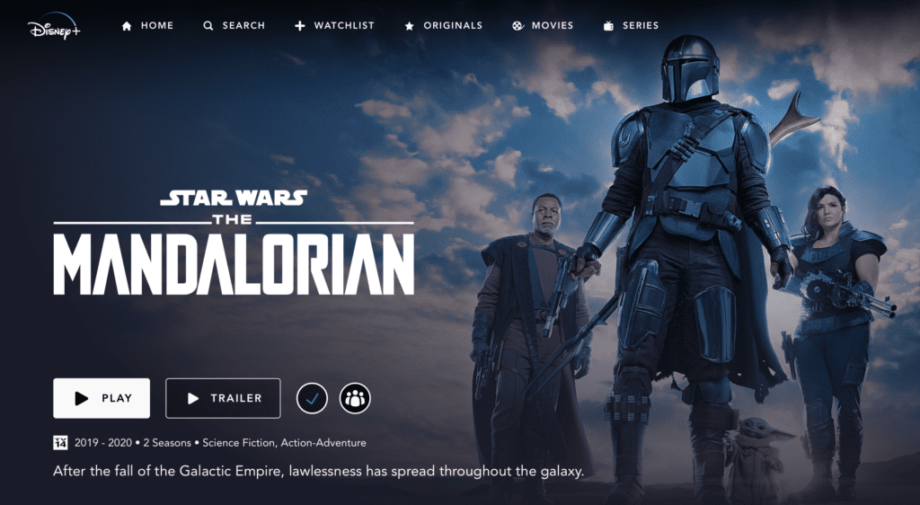The Mandalorian, Season 2 Banner [Source: Disney Plus]