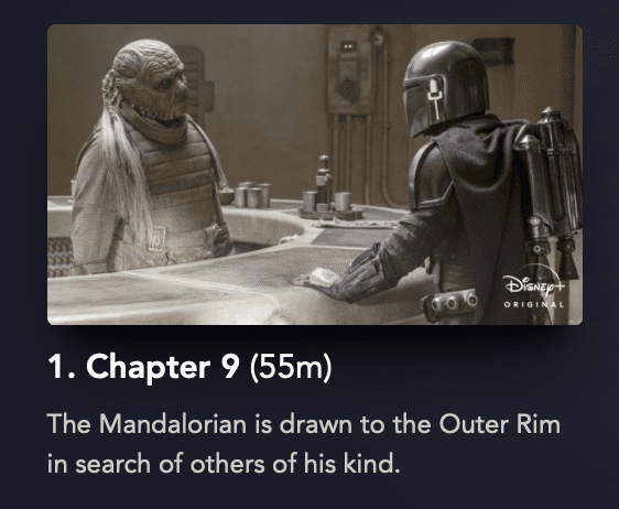The Mandalorian, Season 2, Chapter 1 [Source: Disney Plus]