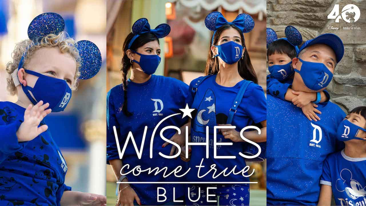 Disney Make a Wish Collection Wishes Come True Blue