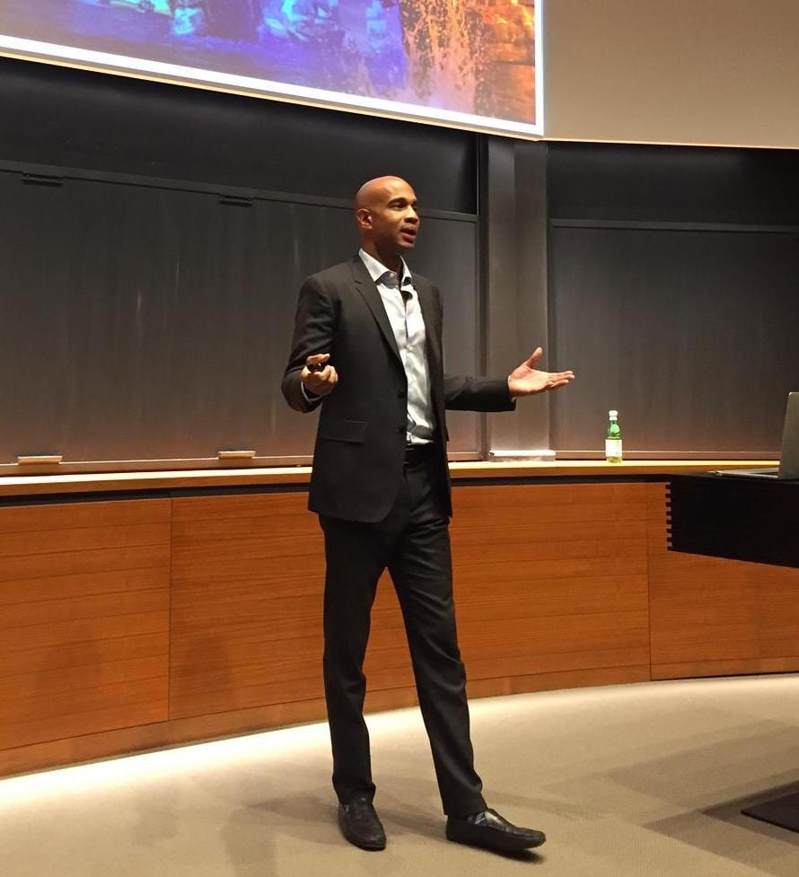 Kareem Daniel at the Yale School of Management [Source: Yale SOM]