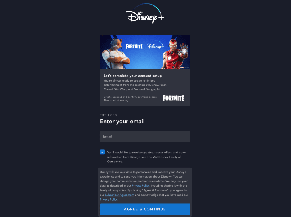 How To Use Www Fortnite Com Disneyplus Step By Step Photo Video If you purchase something in the game, you will be entitled to a free disney plus subscription for. how to use www fortnite com disneyplus
