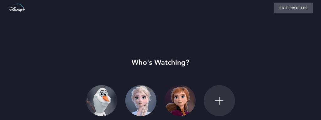DisneyPlus.com Login Who's Watching?