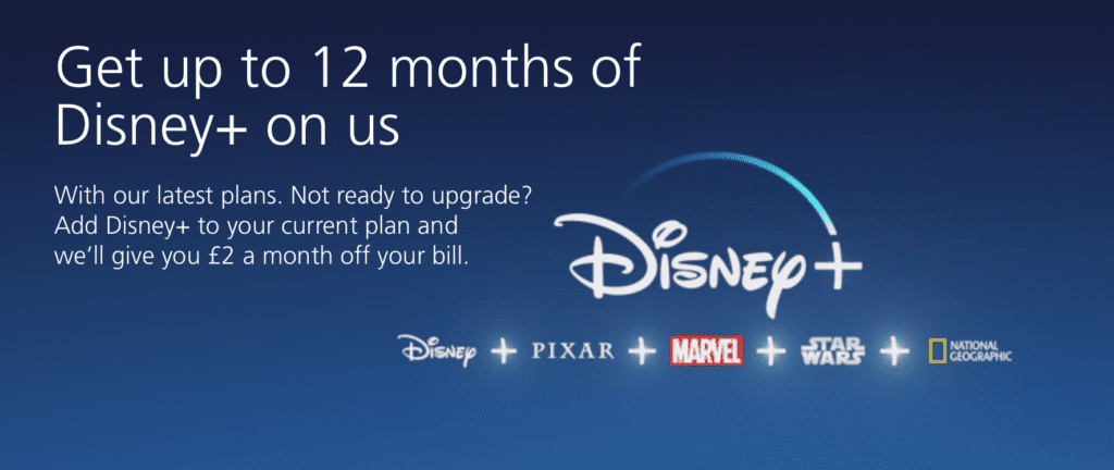 Free Disney Plus with UK O2 Network [Source: O2]