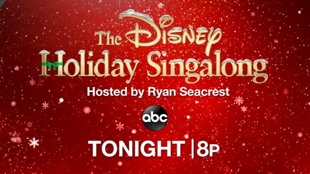 Watch the FULL Disney Holiday Sing Along on ABC Right Here! [Source: ABC]