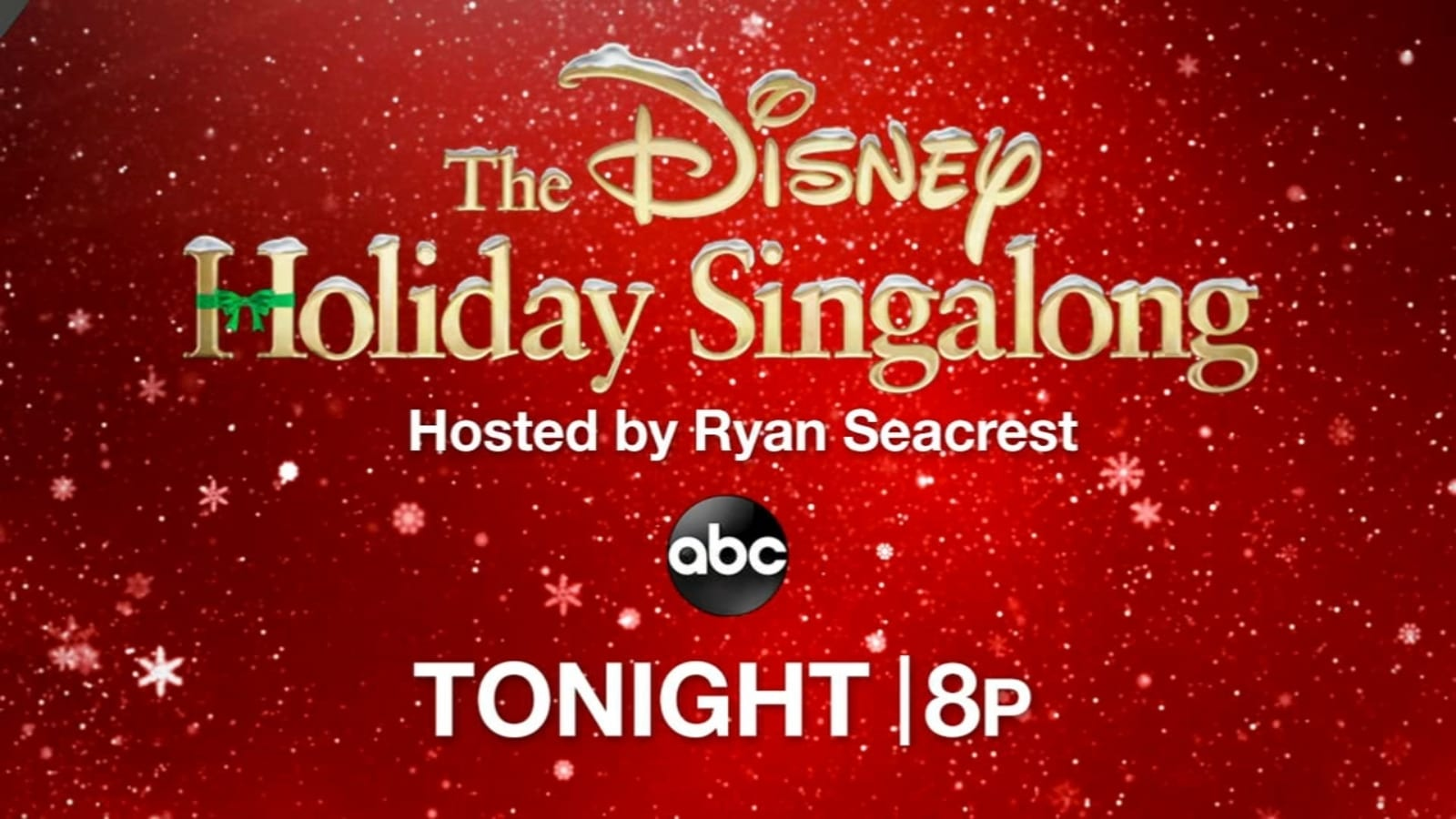 Disney Holiday Sing Along 2020 on ABC