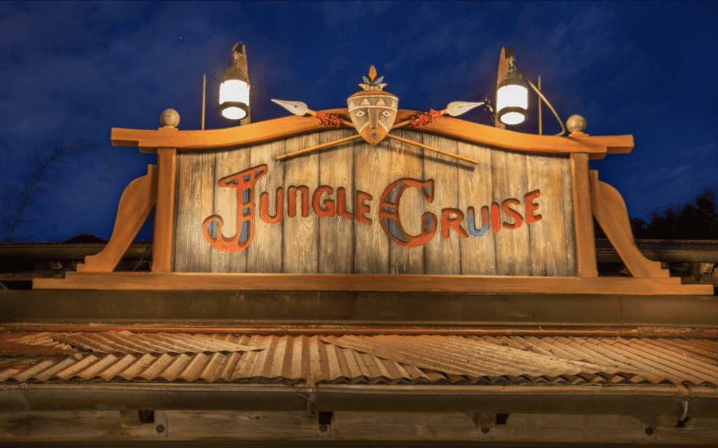 The Jungle Cruise Attraction Signage at Magic Kingdom