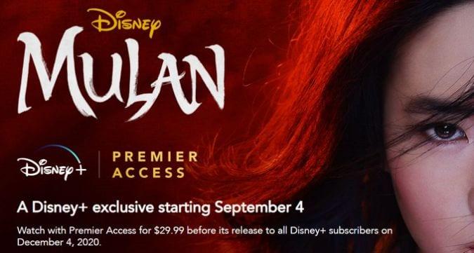 Mulan on Disney+ Premier Access
