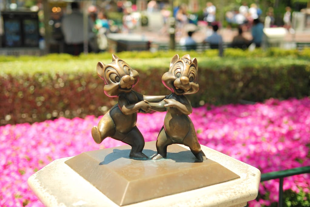 """""""Disneyland Bronze - Chip 'n Dale"""" by Denise Cross Photography is licensed under CC BY 2.0"""