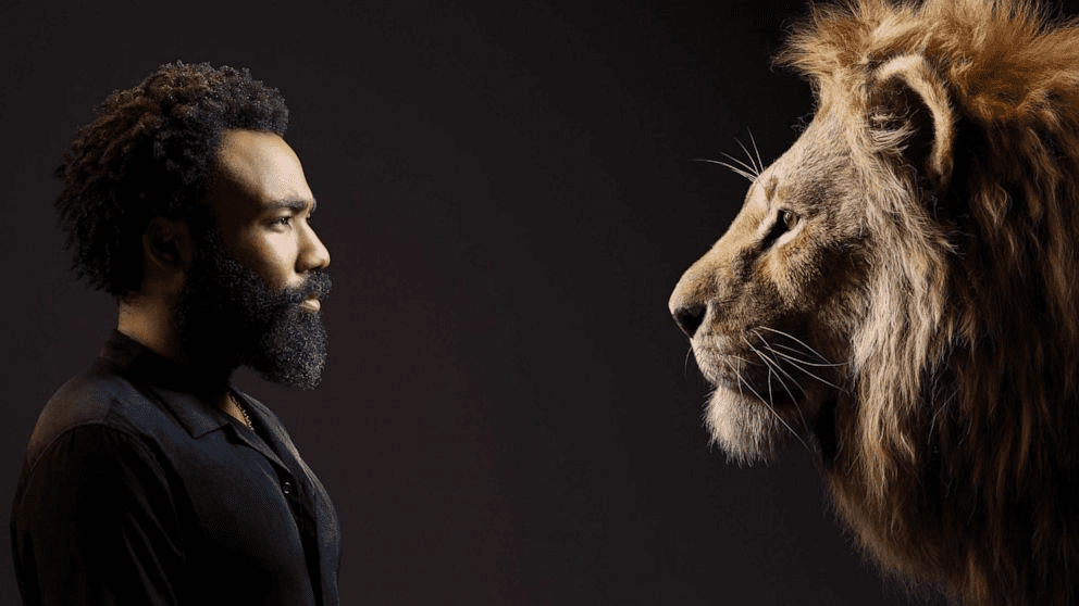 Donald Glover as Simba in the New Live Action Lion King Movie Disney