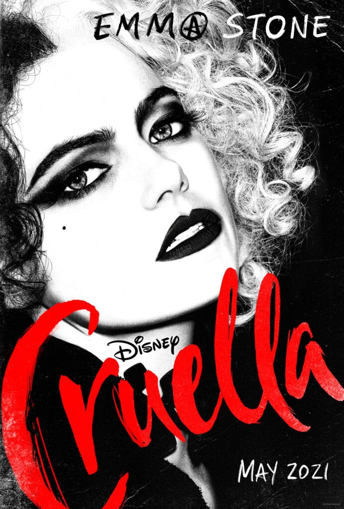 Disney Cruella Movie Poster Coming Out May 2021 [Source: Disney]
