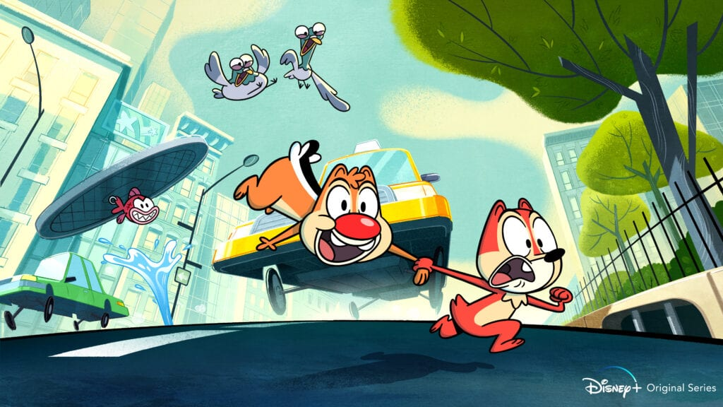 """First look image from the Disney+ original series """"Chip 'n' Dale"""" [Source: Disney Media and Entertainment Distribution]"""