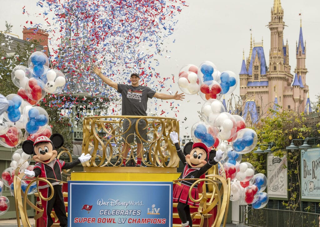 Rob Gronkowski Celebrates Championship Victory at The Most Magical Place on Earth