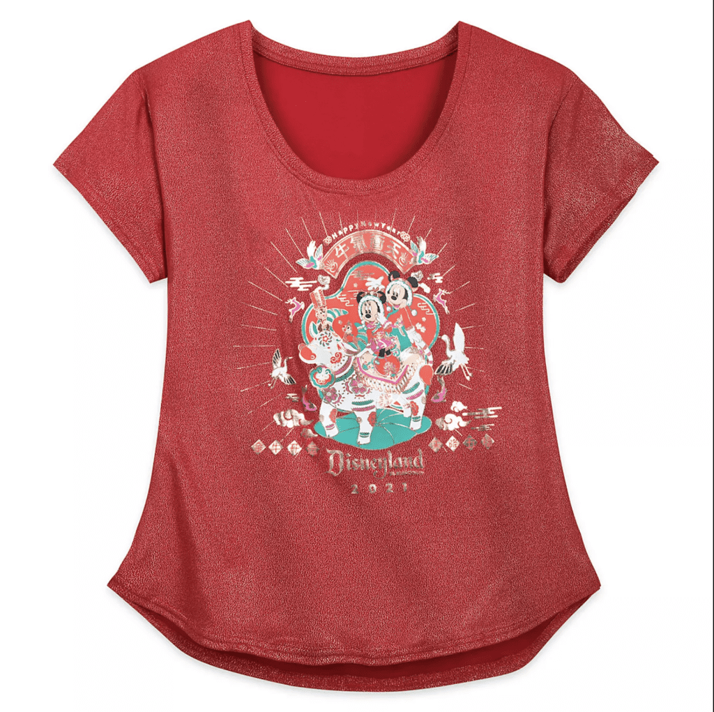 Mickey and Minnie Mouse Disneyland T-Shirt for Women – Lunar New Year 2021 [Source: Shop Disney]