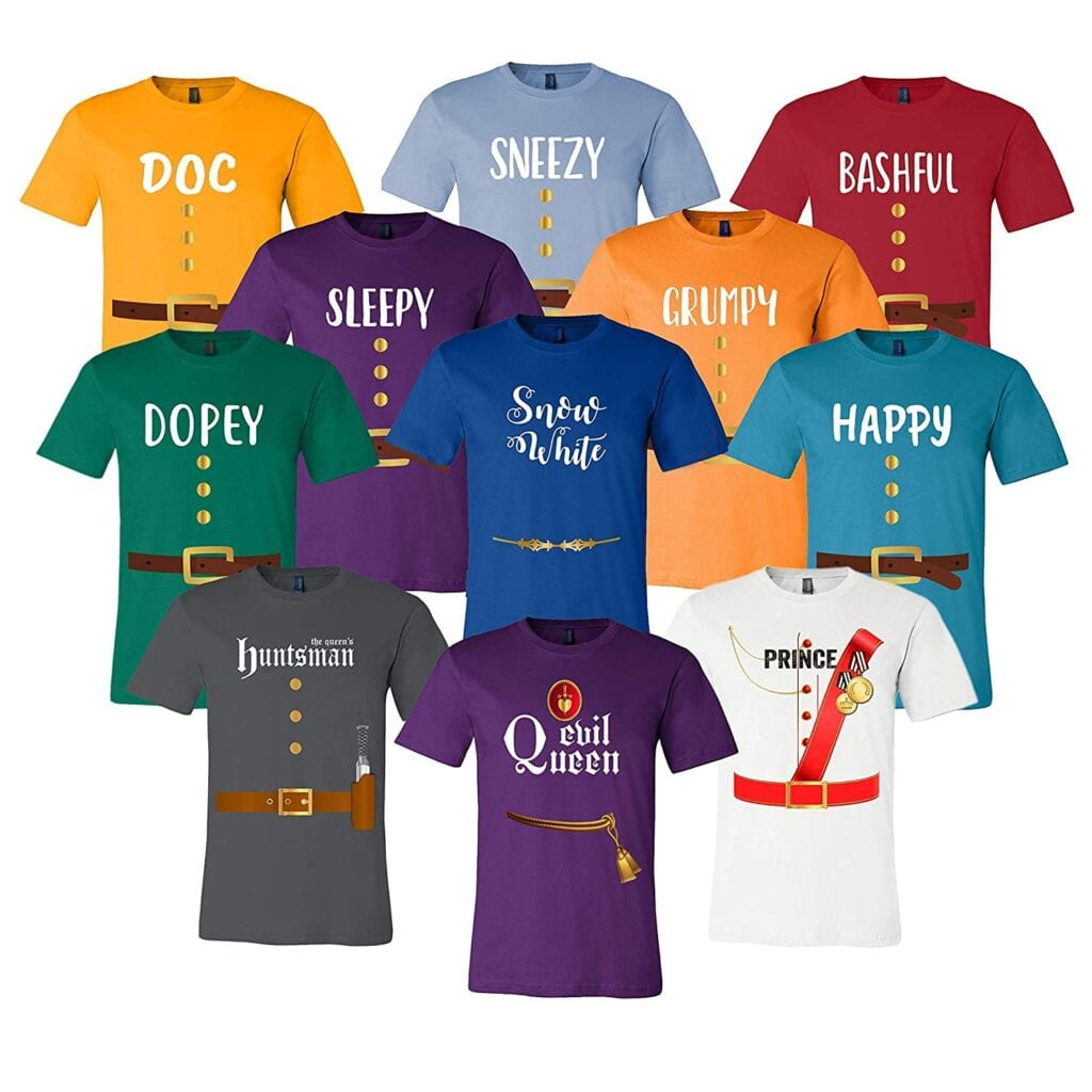 15. Snow White and the Seven Dwarfs T-Shirts