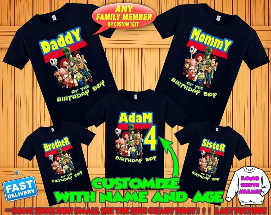 8. Toy Story Family Shirts (Birthday!)