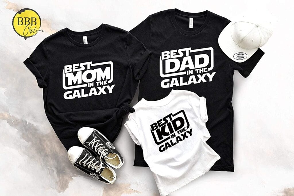7. Best Family in the Galaxy (Star Wars Family Shirts)