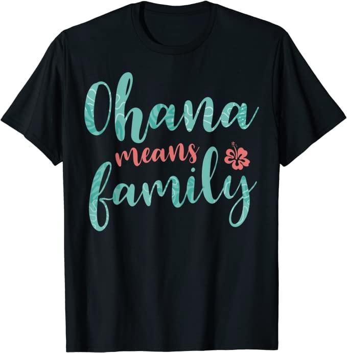 5. Ohana Means Family T-Shirts (Lilo & Stitch)