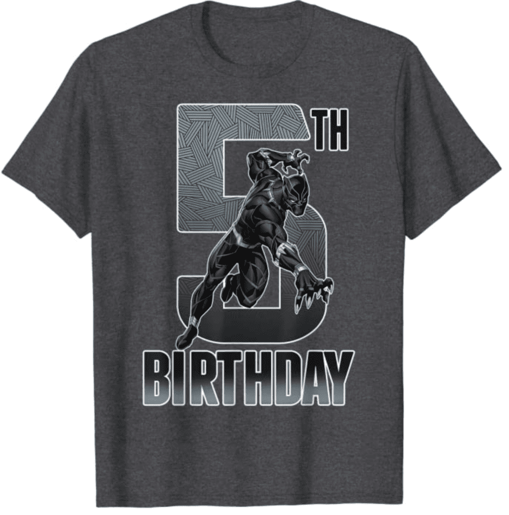 16. Black Panther Birthday Graphic T-shirts