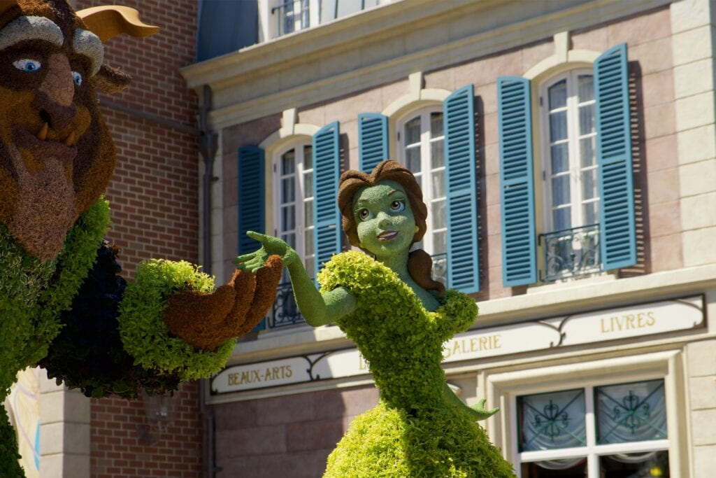 WDW Beauty and the Beast Topiary Topiaries
