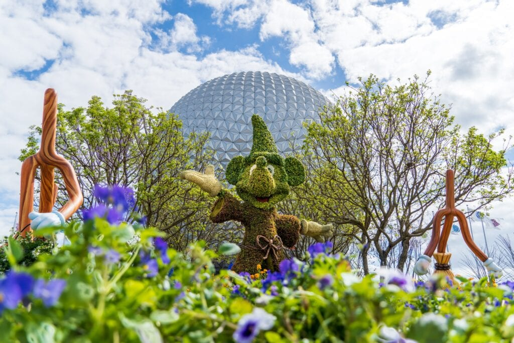 Mickey Mouse Sorcerer Topiary Topiaries at Walt Disney World EPCOT