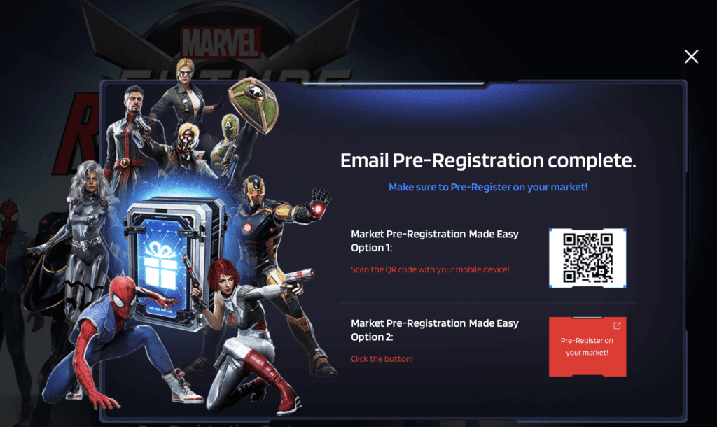 Marvel Future Revolutions Pre-Registration and Costumes [Source: Marvel and Netmarble]