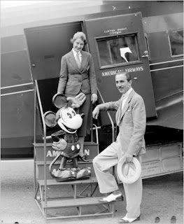 Walt Disney Personal Airplane with Mickey Mouse [Source: Reflections on Walt]