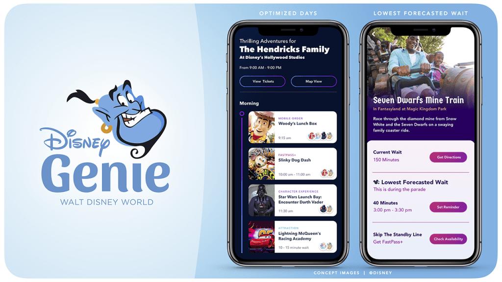 Walt Disney World Genie App [Source: Disney Parks Blog]