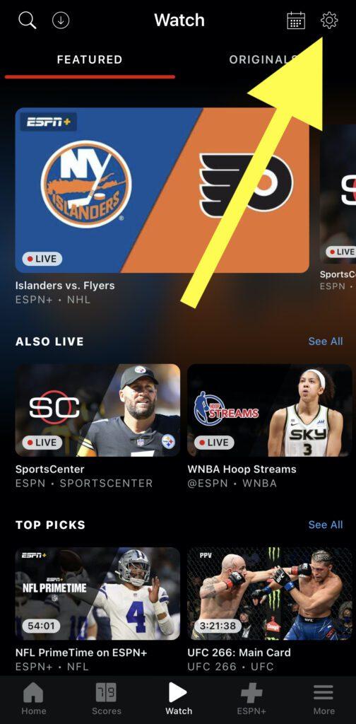 ESPN.COM/ACTIVE [Source: Screenshot via ESPN+ iPhone App]