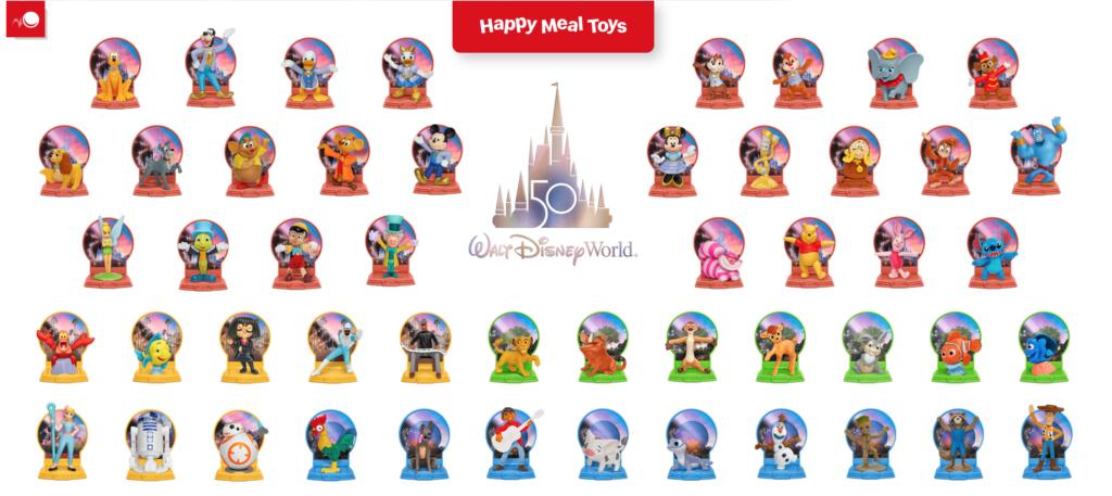 McDonald's 50th Anniversary Disney Toys List [Source: Screenshot via HappyMeal.com]