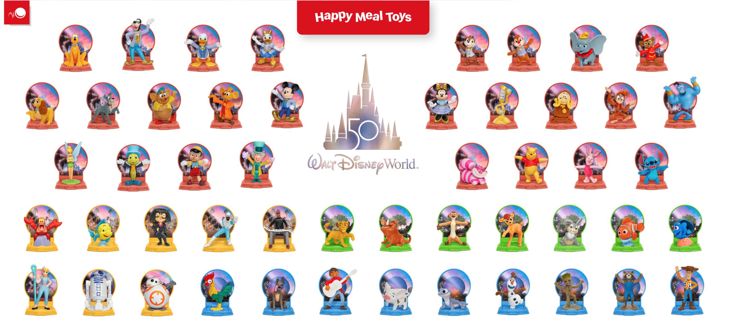 McDonald's 50th Anniversary Disney Toys List