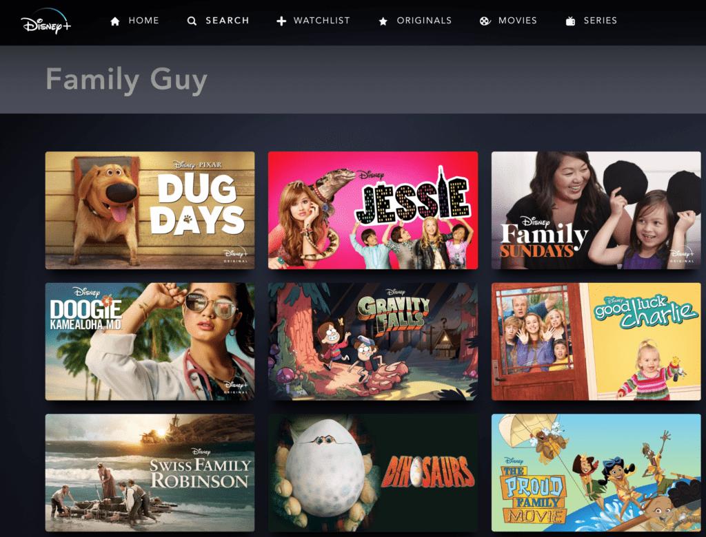 Is Family Guy on Disney Plus?