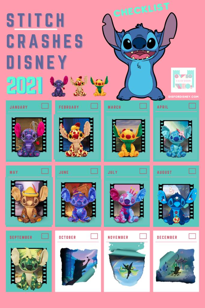 Stitch Crashes Disney Collection Month by Month Checklist